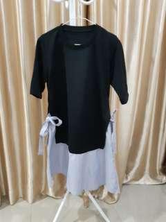 Black Side Ribbon Dress