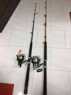 Used Penn powerful fishing rod and reel