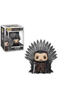 PO: Funko Pop Deluxe: Game of Thrones - Jon Snow Sitting on Throne