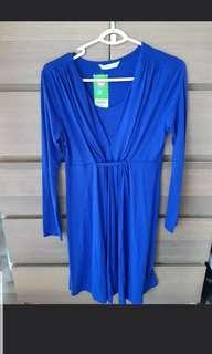 🚚 Bove spring cobalt blue nursing maternity dress