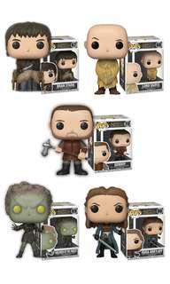 PO: Funko Pop : Game of Thrones - Lord Varys, Yara Greyjoy, Bran Stark, Gendry & Children of the Forest