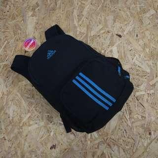 Adidas Climate Black Cyan Stripes Backpack Original