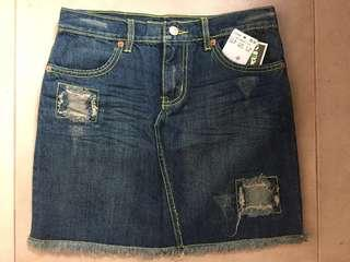 MNG jeans denim skirt 牛仔短裙