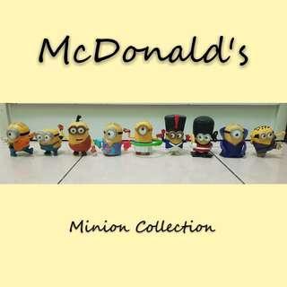 McDonald's minion collection