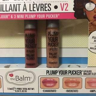 The Balm Plump your pucker Lip Gloss mini lipstick 唇膏 sample 包郵