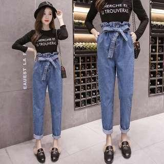 [BNWT] Paperbag High Waisted Jeans #MAKESPACEFORLOVE