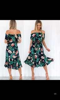 [PL] Off Shoulder Floral Dress #MAKESPACEFORLOVE