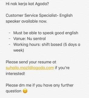 Customer Service Specialist-English speaker