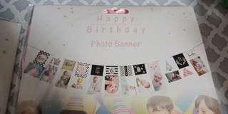 Monthy birthday banner