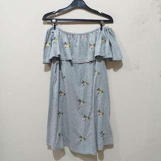 Newlook Grey Off Shoulder Dress