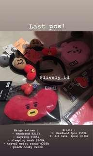 Bt21 bts official line store aksesoris headband sleeping mask book tata chimmy koya cooky bando