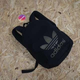 Adidas Originals AC Black Gold Trefoil Logo Backpack Original