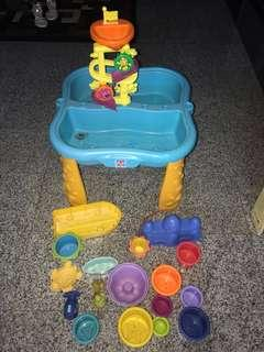 Fisher Price Go n Up sand surf table set