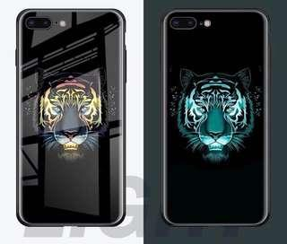 🚚 luminescent tempered glass iphone cases