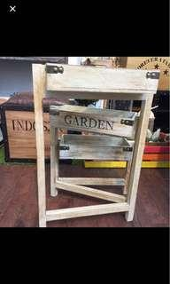 🚚 Foldable 3 ways country wooden crate planter box