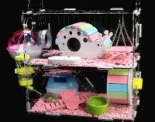 Acrylic Hamster Cage 3
