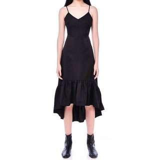 unavail ❗️ editors market black charlotte midi dress