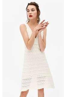 Zara inspired knitted white dress