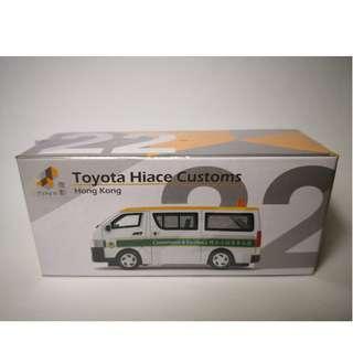 TINY 22 初版 海關 Toyota Hiace Customs  豐田 客貨車 微影