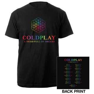 🚚 ColdPlay A Head Full Of Dreams Tour Tshirt