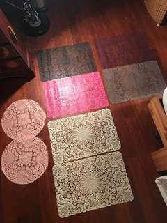 washable lace mat