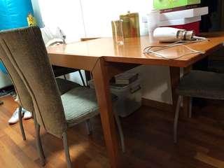 實木伸縮大餐卓