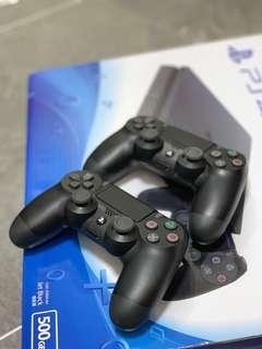 PS4 Slim Jet black 500gb whole full set (very new)