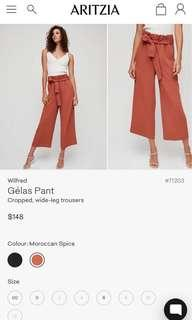 Aritzia Wilfred Gelas pant. Size 0. Worn once!