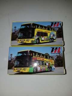 Tomica hello kitty HATO bus 日本觀光 東京鐵塔 海洋 別注版 巴士 模型
