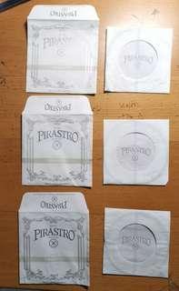 Pirastro Piranito,1/4+1/8,NEW, A,D,G, Violin strings