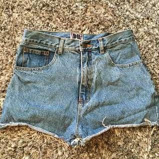 DB high waisted vintage denim shorts waist size 30