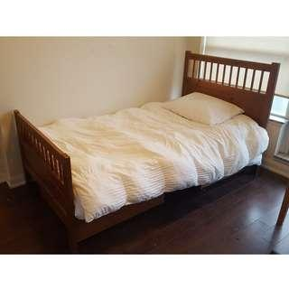 IKEA Twin Bed - Wood Bed Frame