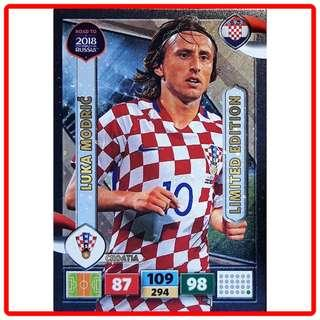🚚 Panini Adrenalyn XL Road to World Cup Russia 2018 Luka Modric Limited Edition