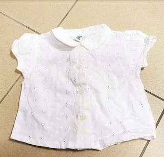 French Label prenatal White eyelet Baby Top