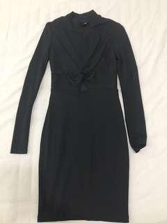 H & M Premium Beyonce Inspired Black keyhole dress