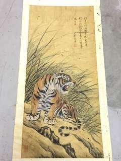 Old tiger painting