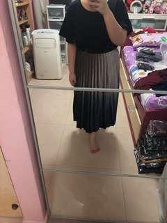 Gradient Long office skirt