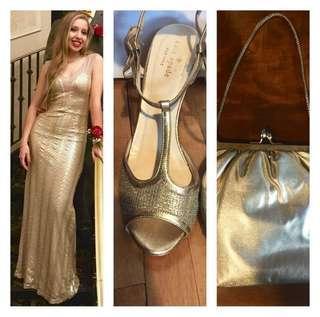 Gold Prom Set