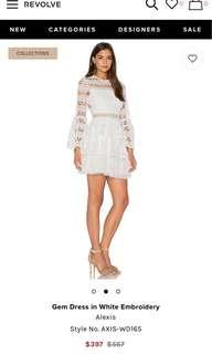 New Alexis White lace dress
