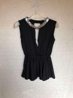 Black Peplum Top