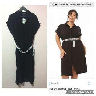 forever 21 plus belted dress