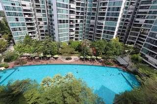 High floor! Pool views! Near MRT