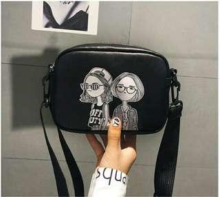 fashionable woman sling bag