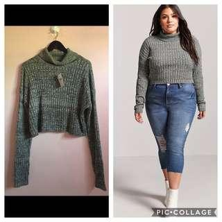 forever 21 plus cropped sweater