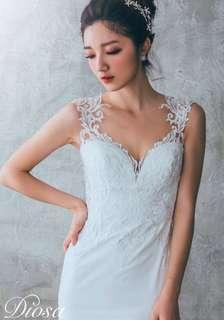 Two-way Lace Tattoo Button Up Wedding Gown