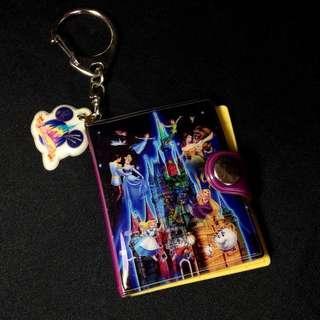 Tokyo Disneyland mini photo album keychain