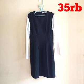 SALE! DRESS HITAM CREAM