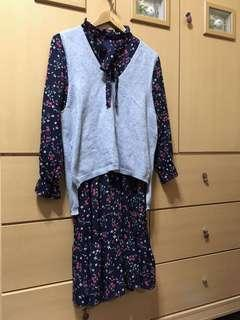 🚚 韓系碎花洋裝(有實穿照#半價衣服市集