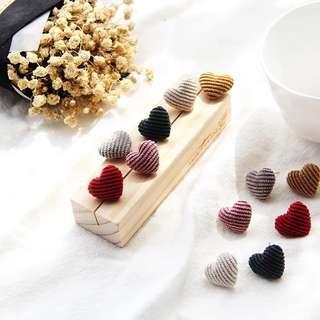 🚚 Kr Woolen knit Heart Earrings