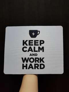 Keep Calm Motivational Quote Mouse Pad White